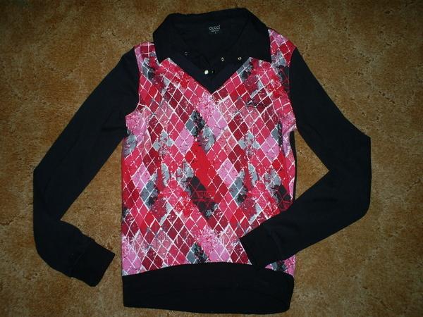 блуза в черно и розово belleamie_S5034624.JPG Big