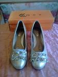 Нови златисти обувки 41  номер 26см.стелка valenta_16628.jpg