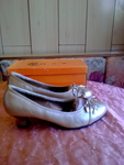Нови златисти обувки 41  номер 26см.стелка valenta_16629.jpg