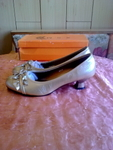 Нови златисти обувки 41  номер 26см.стелка valenta_16631.jpg