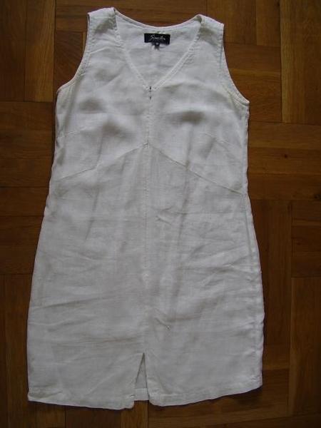 5 лв: ленена рокля 38 р-р (за бремелинка?) piskuni_byala_lenena_01.JPG Big